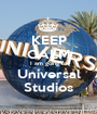 KEEP CALM I am going to Universal Studios - Personalised Poster A1 size