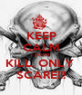 KEEP CALM I DON'T KILL, ONLY  SCARE!!! - Personalised Poster A1 size
