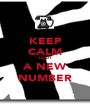 KEEP CALM I GOT A NEW NUMBER - Personalised Poster A1 size