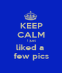 KEEP CALM I just liked a  few pics - Personalised Poster A1 size