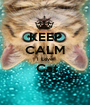 KEEP CALM I Love  Cat  - Personalised Poster A1 size