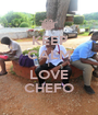 KEEP CALM I LOVE CHEFO - Personalised Poster A1 size
