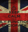 KEEP CALM I'M A HIGHLY FUNCTIONING SOCIOPATH - Personalised Poster A1 size