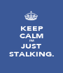 KEEP CALM I'M JUST STALKING. - Personalised Poster A1 size