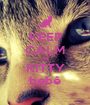 KEEP CALM I'M KITTY bebê - Personalised Poster A1 size