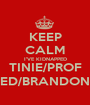 KEEP CALM I'VE KIDNAPPED TINIE/PROF ED/BRANDON - Personalised Poster A1 size