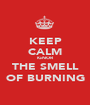 KEEP CALM IGNOR THE SMELL OF BURNING - Personalised Poster A1 size