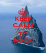 KEEP CALM I'M ABOUT  TO  ROCK - Personalised Poster A1 size