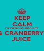 KEEP CALM I'M DRINKING ABSOLUTE & CRANBERRY  JUICE  - Personalised Poster A1 size