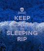 KEEP CALM IM SLEEPING RIP - Personalised Poster A1 size