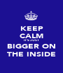 KEEP CALM IT'S JUST BIGGER ON THE INSIDE - Personalised Poster A1 size
