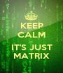 KEEP CALM ..... IT'S JUST MATRIX - Personalised Poster A1 size