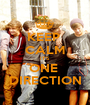 KEEP  CALM IT'S ONE  DIRECTION - Personalised Poster A1 size