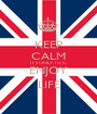 KEEP CALM IT'S ONLY 1/2 C ENJOY LIFE - Personalised Poster A1 size