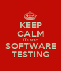 KEEP CALM IT's only SOFTWARE TESTING - Personalised Poster A1 size