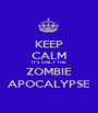 KEEP CALM IT'S ONLY THE ZOMBIE APOCALYPSE - Personalised Poster A1 size