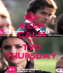 KEEP CALM it's TVD THURSDAY - Personalised Poster A1 size