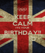 KEEP CALM IT'S YOUR BIRTHDAY!!           :D - Personalised Poster A1 size