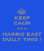KEEP CALM ITS A HARRIS EAST DULLY TING ! - Personalised Poster A1 size