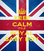 KEEP CALM IT'S A  ROYAL BABY BOY - Personalised Poster A1 size