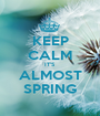 KEEP CALM IT'S ALMOST SPRING - Personalised Poster A1 size