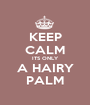 KEEP CALM ITS ONLY A HAIRY PALM - Personalised Poster A1 size