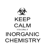 KEEP CALM ITS ONLY INORGANIC CHEMISTRY - Personalised Poster A1 size