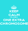 KEEP CALM ITS ONLY ONE EXTRA CHROMOSOME - Personalised Poster A1 size