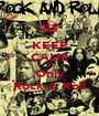KEEP CALM It's Only Rock & Roll - Personalised Poster A1 size