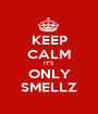KEEP CALM IT'S ONLY SMELLZ - Personalised Poster A1 size