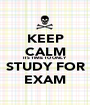 KEEP CALM ITS TIME TO ONLY STUDY FOR EXAM - Personalised Poster A1 size