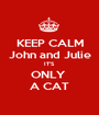 KEEP CALM John and Julie IT'S ONLY  A CAT - Personalised Poster A1 size