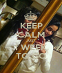 KEEP CALM JUST  1 WEEK TO GO - Personalised Poster A1 size