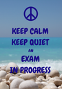 KEEP CALM KEEP QUIET AN EXAM IN PROGRESS - Personalised Poster A1 size