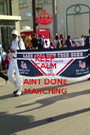 KEEP CALM LAKE AREA AINT DONE MARCHING - Personalised Poster A1 size