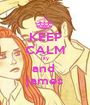 KEEP CALM lily and  james - Personalised Poster A1 size