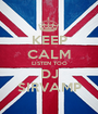 KEEP CALM LISTEN TOO DJ SIRVAMP - Personalised Poster A1 size