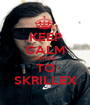 KEEP CALM LISTING TO SKRILLEX - Personalised Poster A1 size