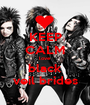 KEEP CALM love black veil brides - Personalised Poster A1 size