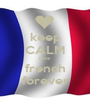 keep CALM love french forever - Personalised Poster A1 size