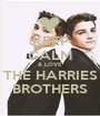 KEEP CALM & LOVE THE HARRIES BROTHERS - Personalised Poster A1 size