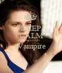 KEEP CALM Luke Love's Vampire  - Personalised Poster A1 size