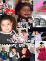 KEEP CALM MADISYN  IS  17 TODAY! HAPPY BIRTHDAY!! - Personalised Poster A1 size