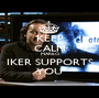 KEEP CALM MARILÓ IKER SUPPORTS YOU - Personalised Poster A1 size