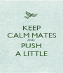 KEEP CALM MATES AND  PUSH A LITTLE - Personalised Poster A1 size