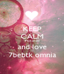 KEEP CALM Mohamed and love 7bebtk omnia - Personalised Poster A1 size