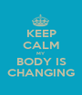KEEP CALM MY  BODY IS CHANGING - Personalised Poster A1 size