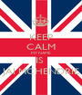 KEEP CALM MY NAME  IS  JAI MCHENDRIE - Personalised Poster A1 size