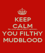 KEEP CALM No one asked your opinion, YOU FILTHY MUDBLOOD - Personalised Poster A1 size