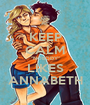 """KEEP CALM """"NOBODY"""" LIKES ANNABETH - Personalised Poster A1 size"""